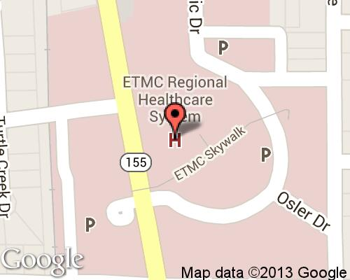 Map Of Texas Medical Center.East Texas Medical Center Hospitals In Tyler