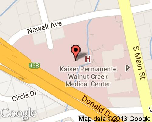 Kaiser Permanente Walnut Creek Medical Center - Hospitals in Walnut on kaiser california map, kaiser redwood city map, kaiser san leandro map,