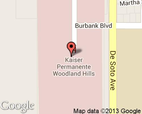 Kaiser Permanente Woodland Hills Medical Center - Hospitals in ... on bmw location map, boston location map, white location map, aetna location map, cigna location map, noble location map,